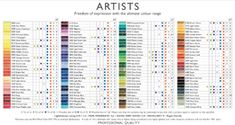 Artists color chart