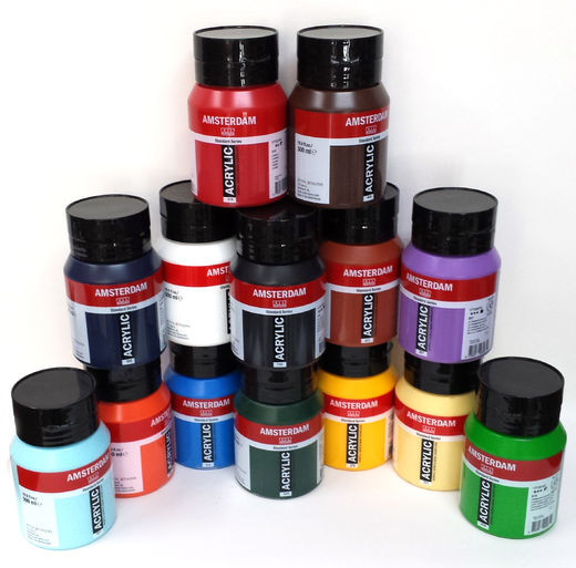 Various Colors, Amsterdam Acrylics 500ml
