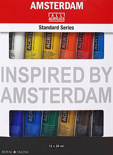 Amsterdam All Acrylics 12 x 20 ml tubes set