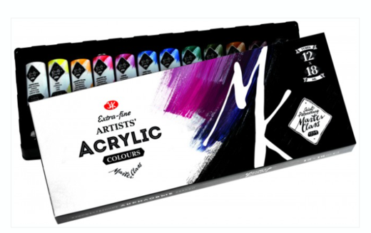 Master Class Acrylic Colours Set 12 x 18 ml