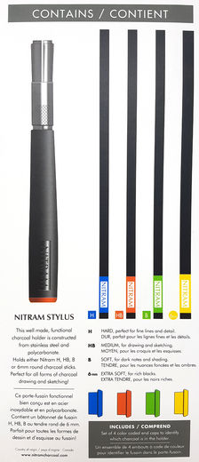 Nitram Stylys Charcoal Holder + 4 charcoals