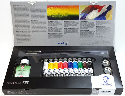 Van Gogh Oil Colors Set 10x20 ml tubes + accessories