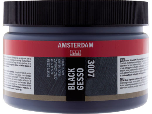 Black Gesso Amsterdam All Acrylics